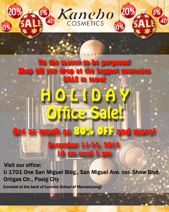 Kanebo Cosmetics Christmas Outlet Sale December 2012