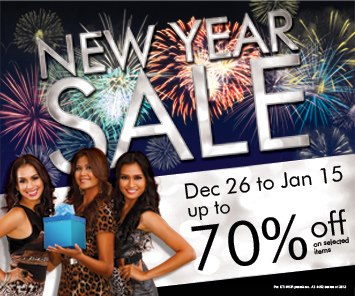 Araneta Center New Year Sale January 2013