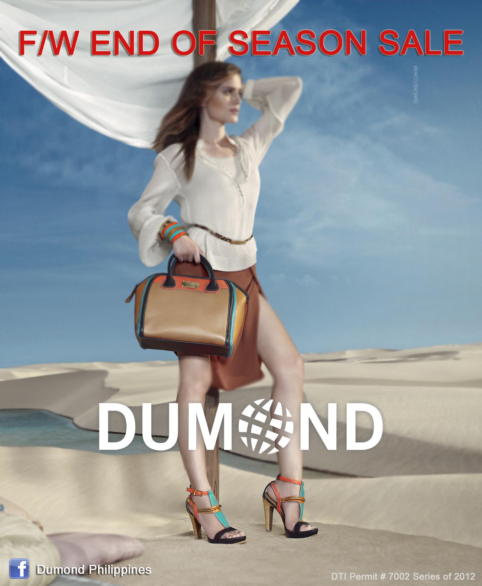 Dumond End of Season Sale January - February 2013