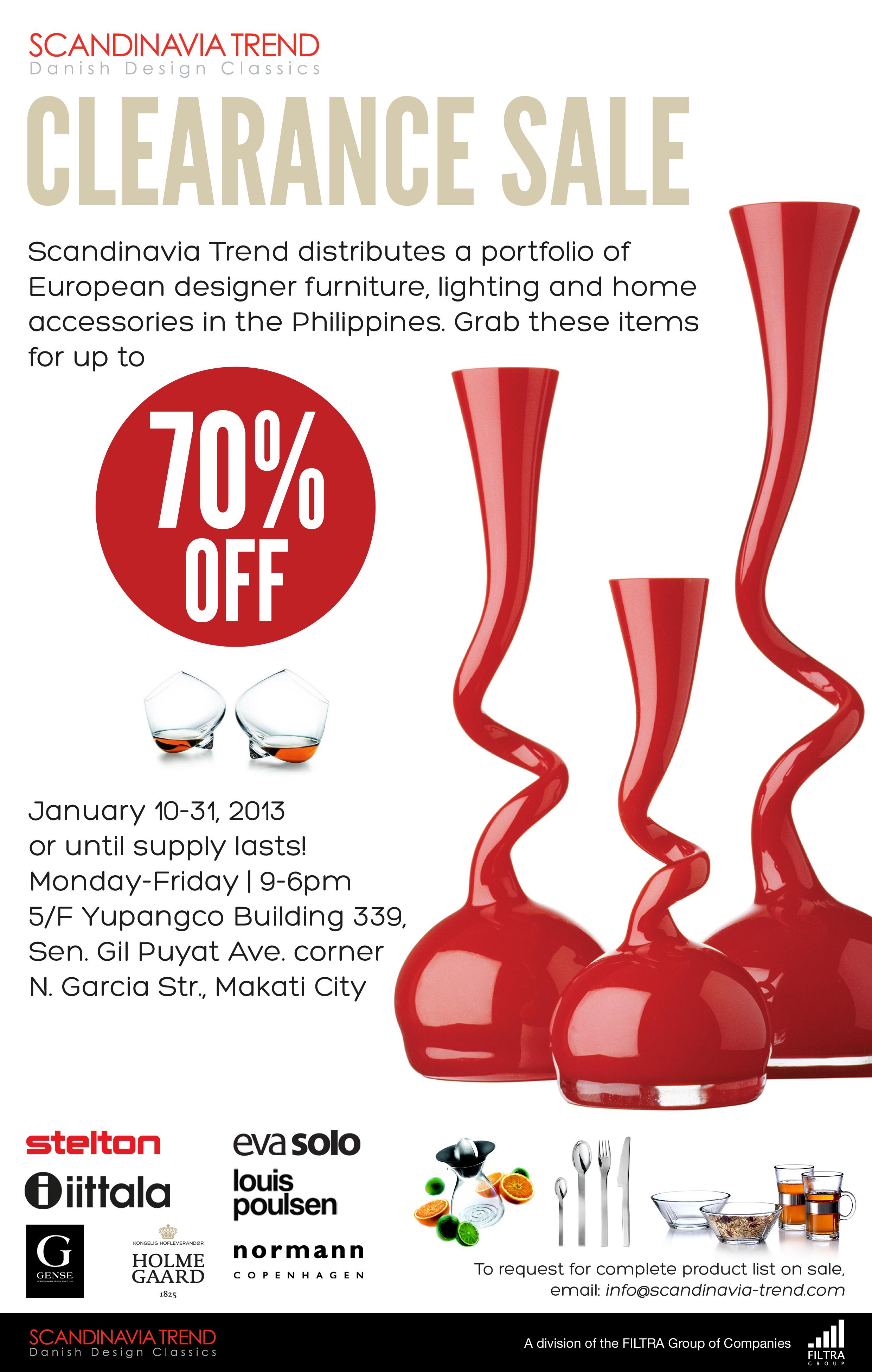 Scandinavia Trend Clearance Sale January 2013
