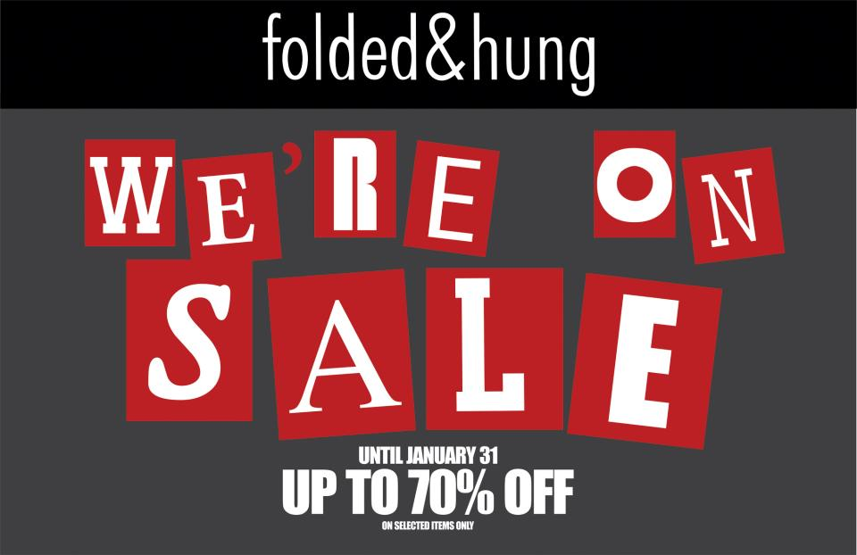 Folded and Hung End of Season Sale January 2013