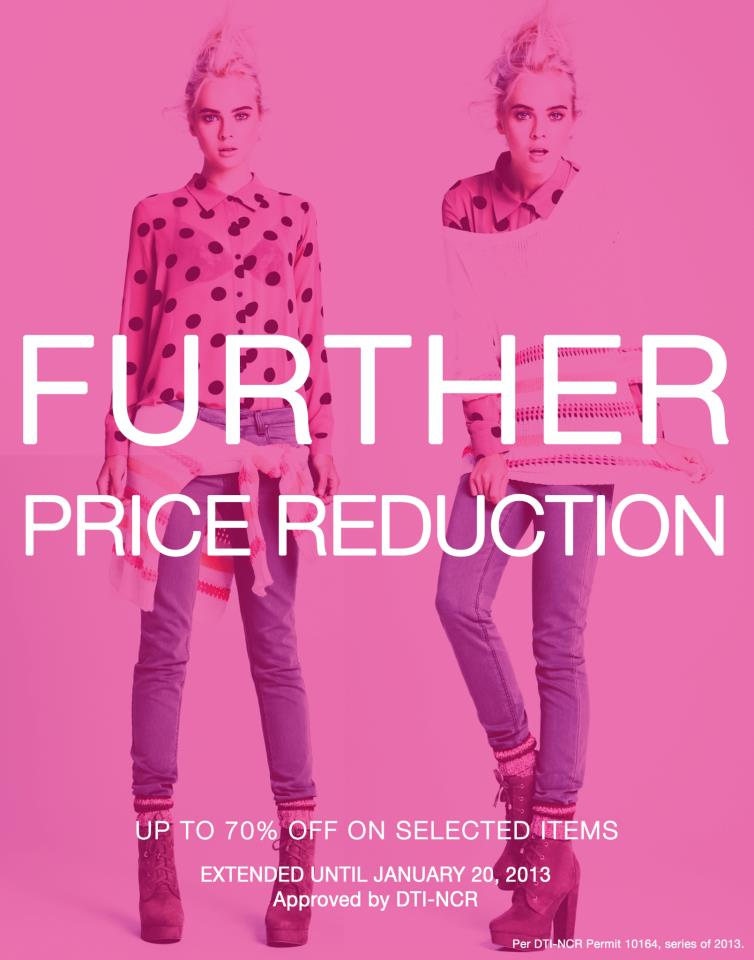 Forever 21 Further Reduction January 2013
