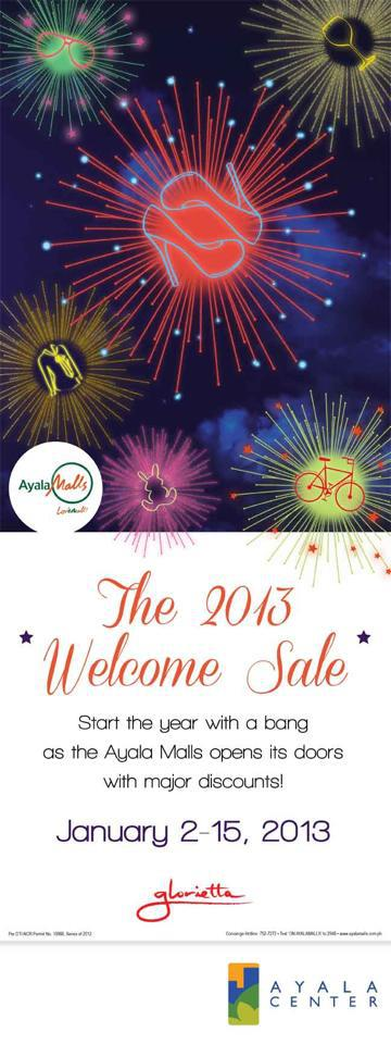 Glorietta 2013 Welcome Sale January 2013
