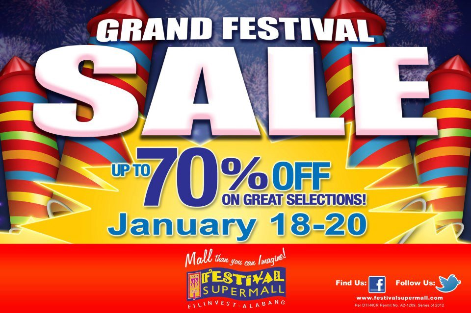Grand Festival Sale @ Festival Supermall January 2013
