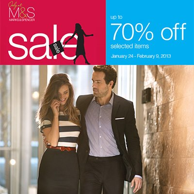 Marks & Spencer Further Reductions January - February 2013