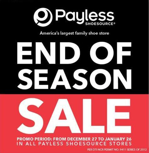 Payless Shoesource End of Season Sale January 2013