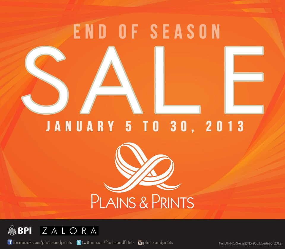Plains & Prints End of Season Sale January 2013
