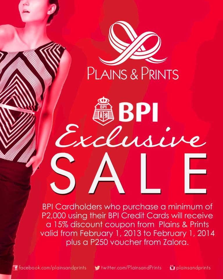 Plains & Prints BPI Exclusive Sale January 2013