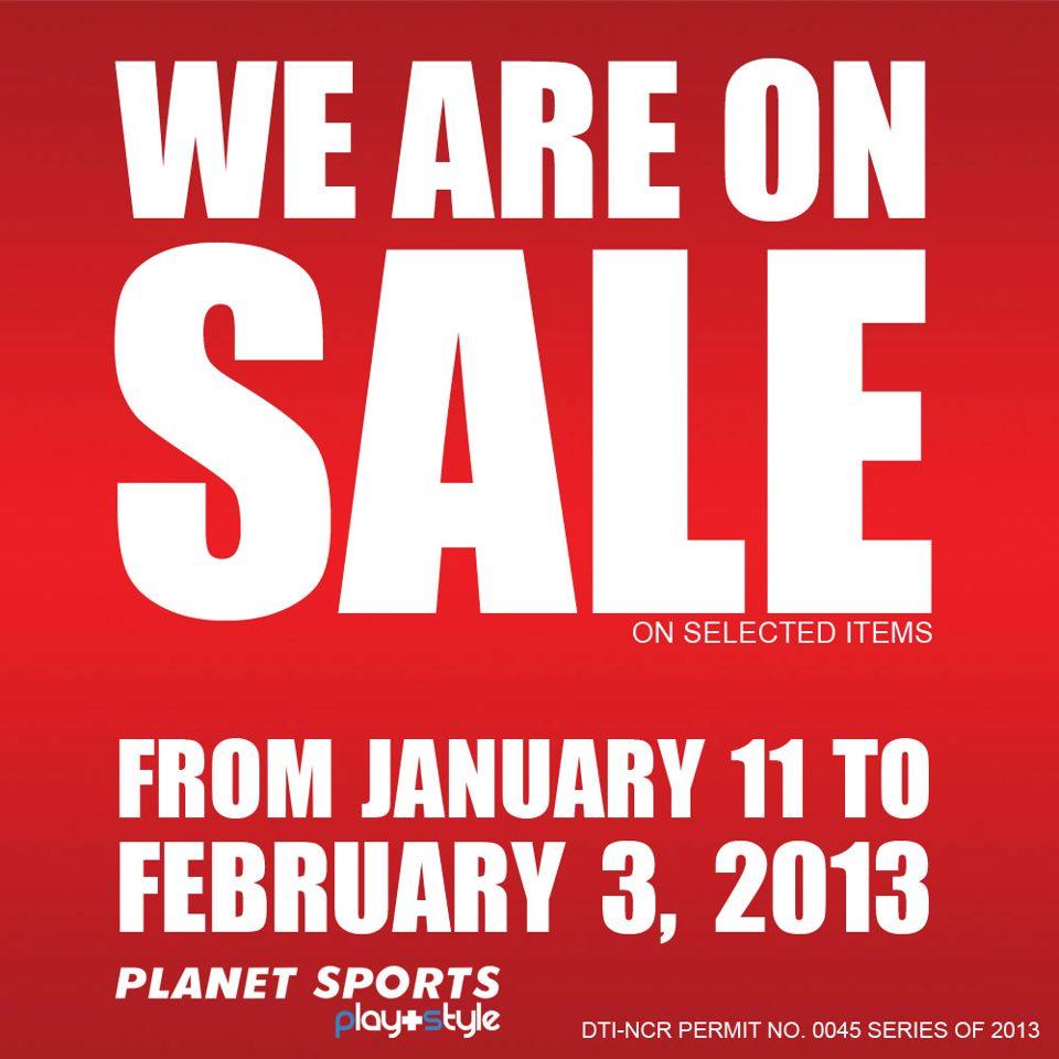 Planet Sports Sale January 2013