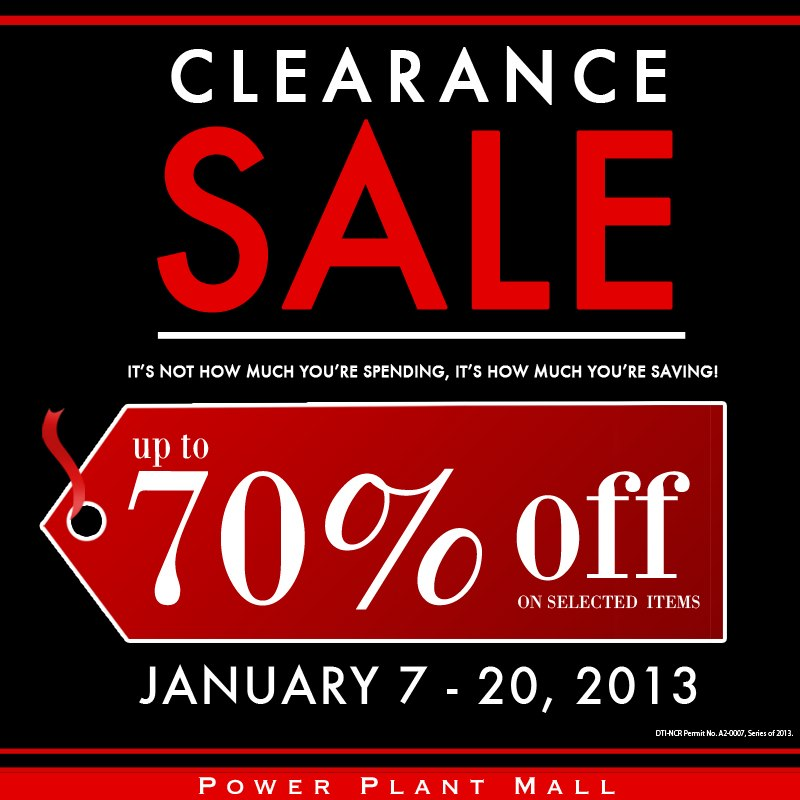 Power Plant Mall Clearance Sale January 2013