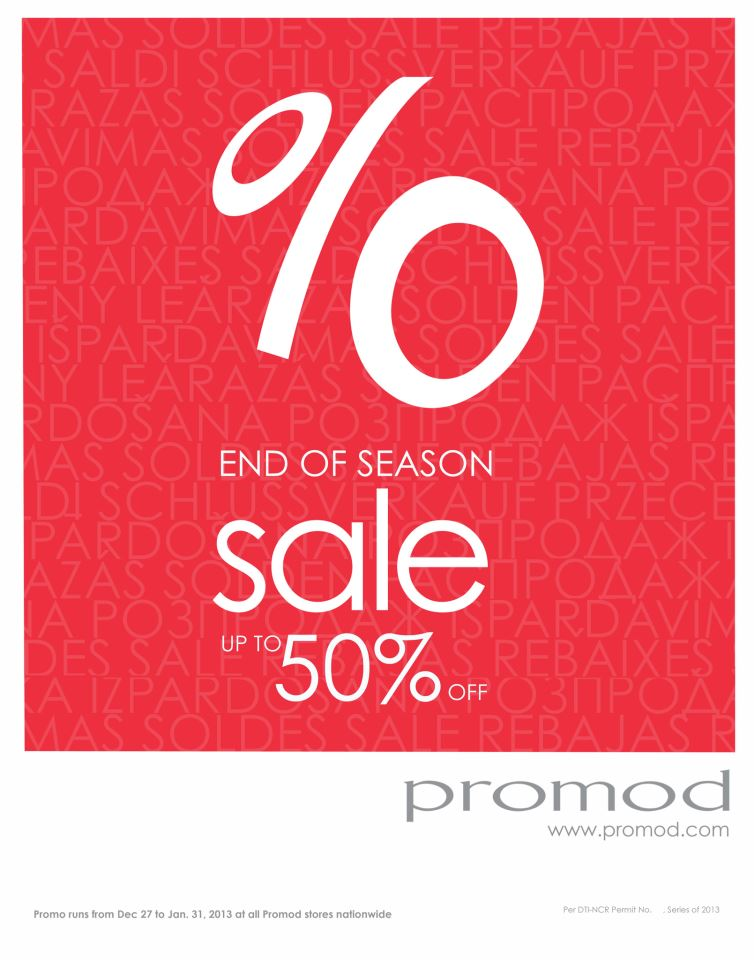 Promod End of Season Sale December 2012 - January 2013