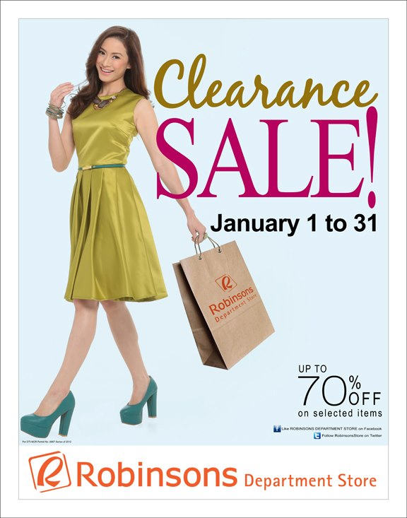 Robinsons Department Store Clearance Sale January 2013