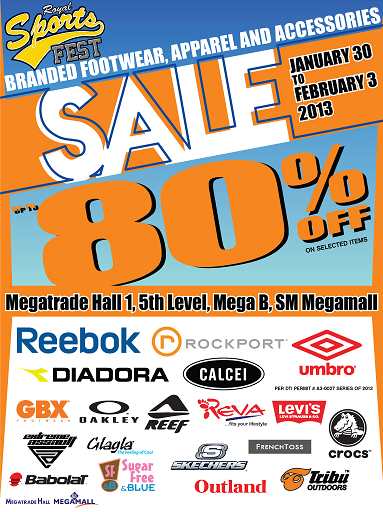 Royal Sports Fest Sale @ SM Megatrade Hall January - February 2013