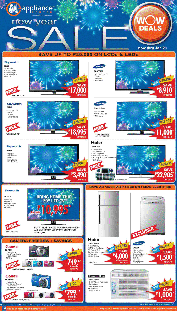 ance Center New Year Sale