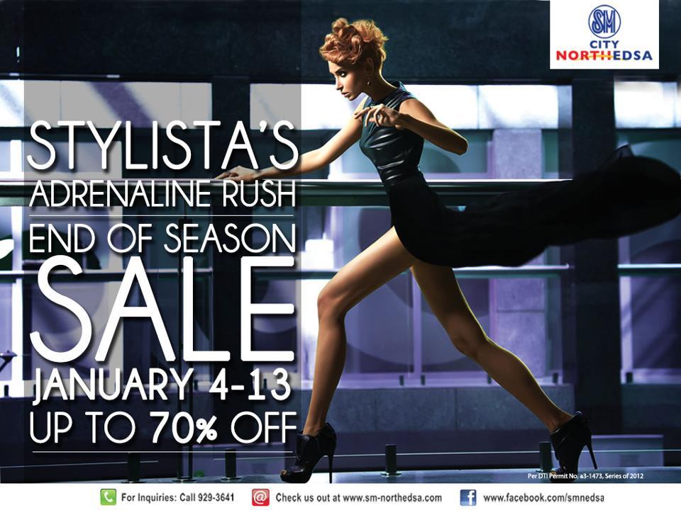 SM City North Edsa End of Season Sale January 2013