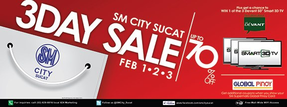 SM City Sucat 3-Day Sale February 2013
