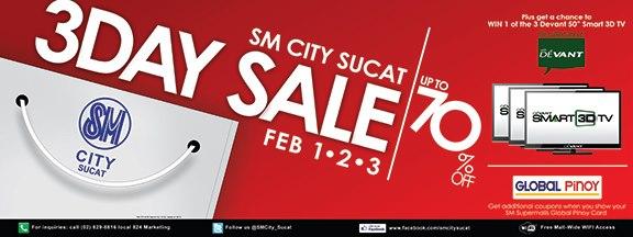SM City Sucat 3-Day Sale February 2013