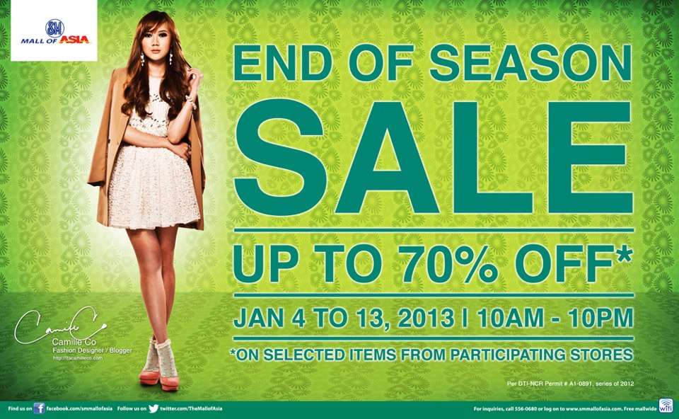SM Mall of Asia End of Season Sale January 2013