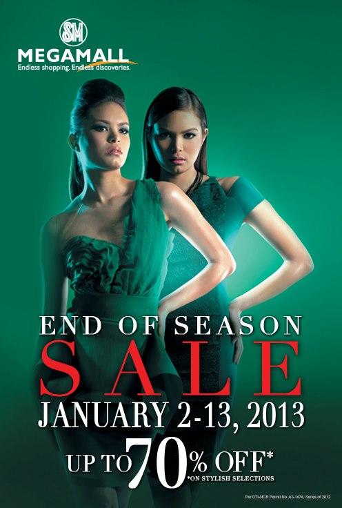 SM Megamall End of Season Sale January 2013