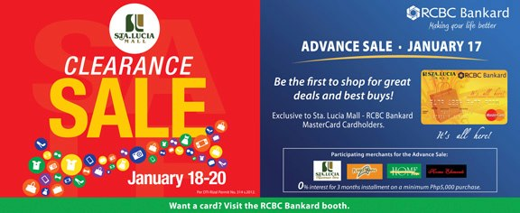 Sta. Lucia Mall Clearance Sale January 2013