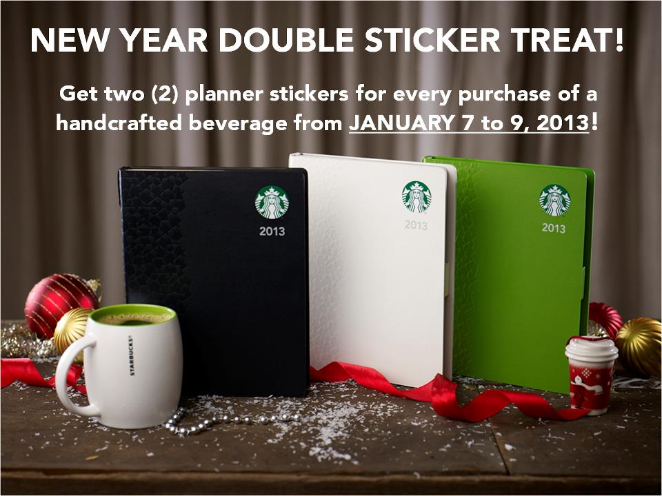 Starbucks Double Sticker Treat January 2013