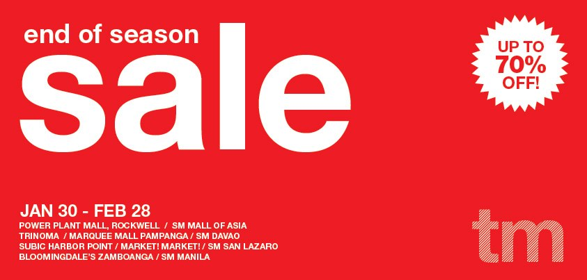 Team Manila End of Season Sale January - February 2013