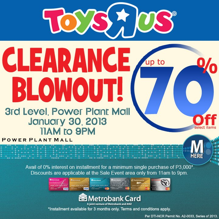 Toys R Us Clearance Blowout @ Power Plant Mall January 2013