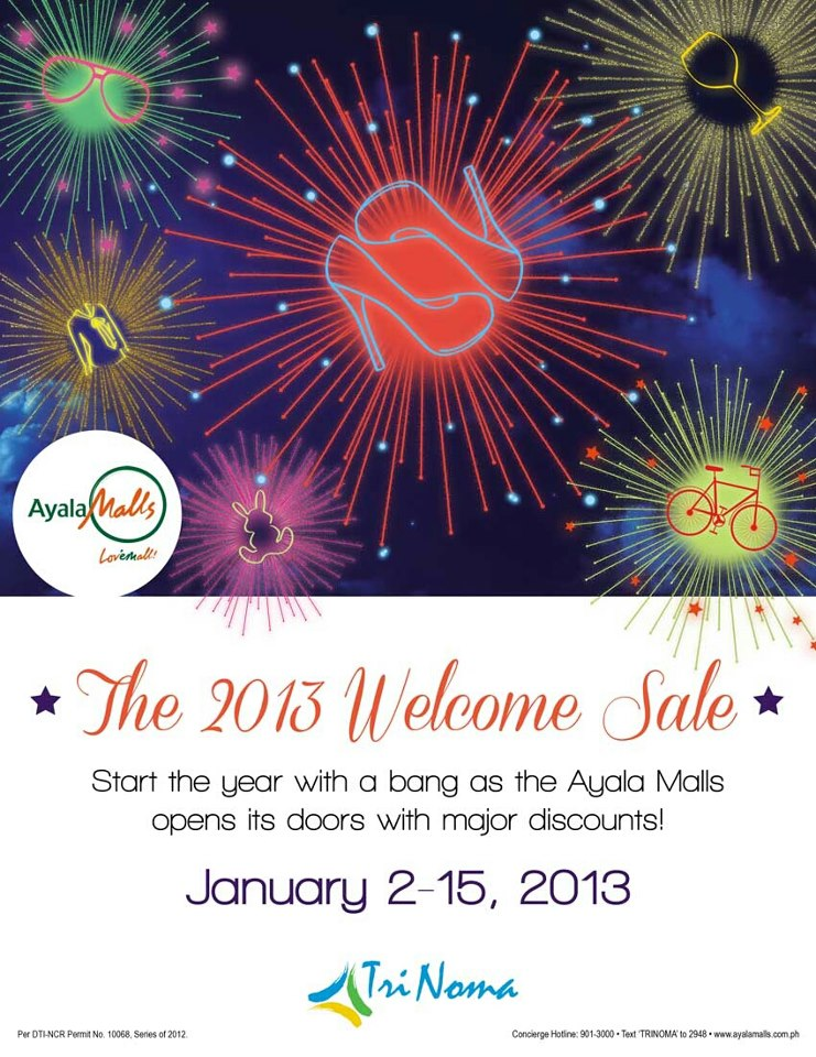 Trinoma Welcome Sale January 2013
