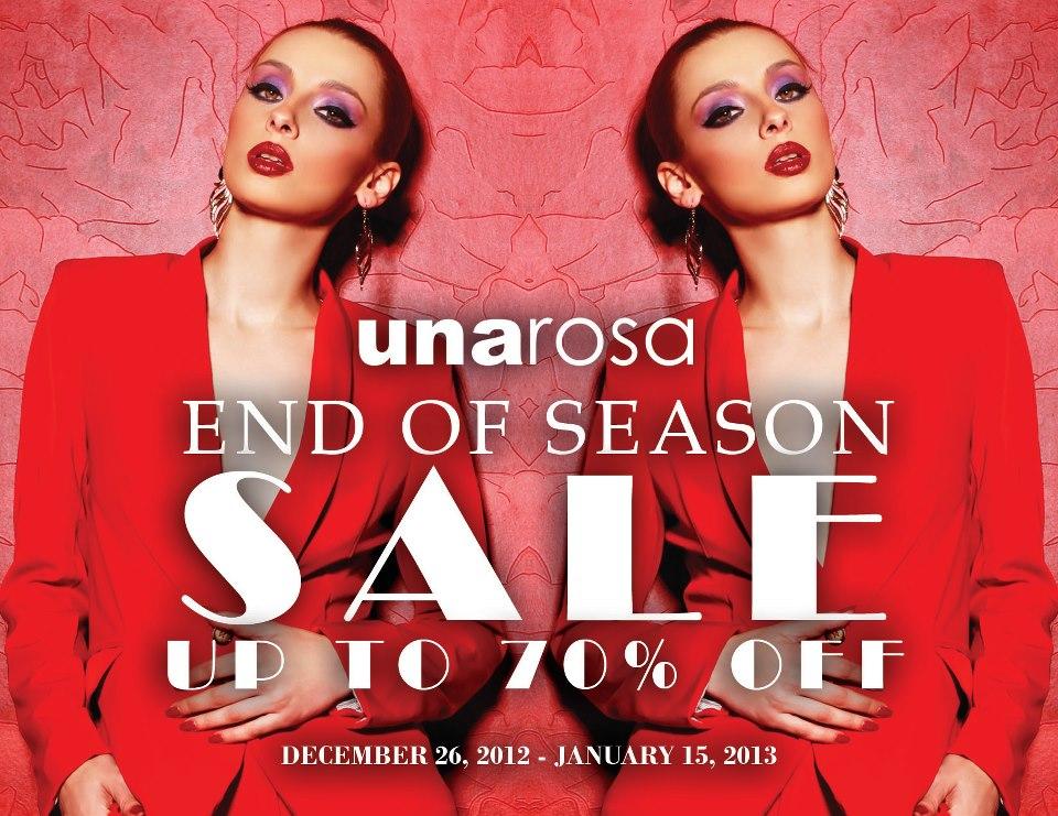 Una Rosa End of Season Sale January 2013