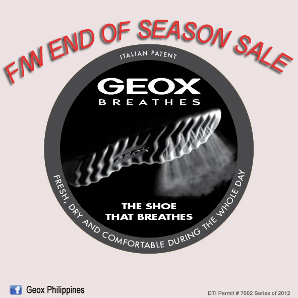 Geox End of Season Sale January - February 2013