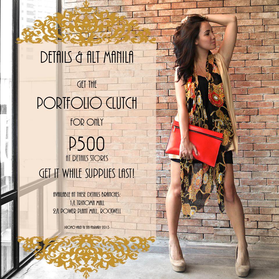 ALT Manila + Details store Promo February 2013