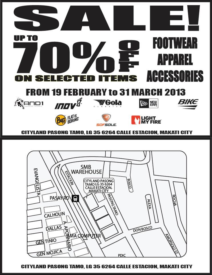 Akt!v Sports Warehouse Sale February - March  2013