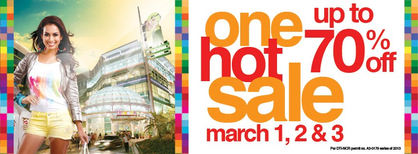Araneta Center One Hot Sale March 2013