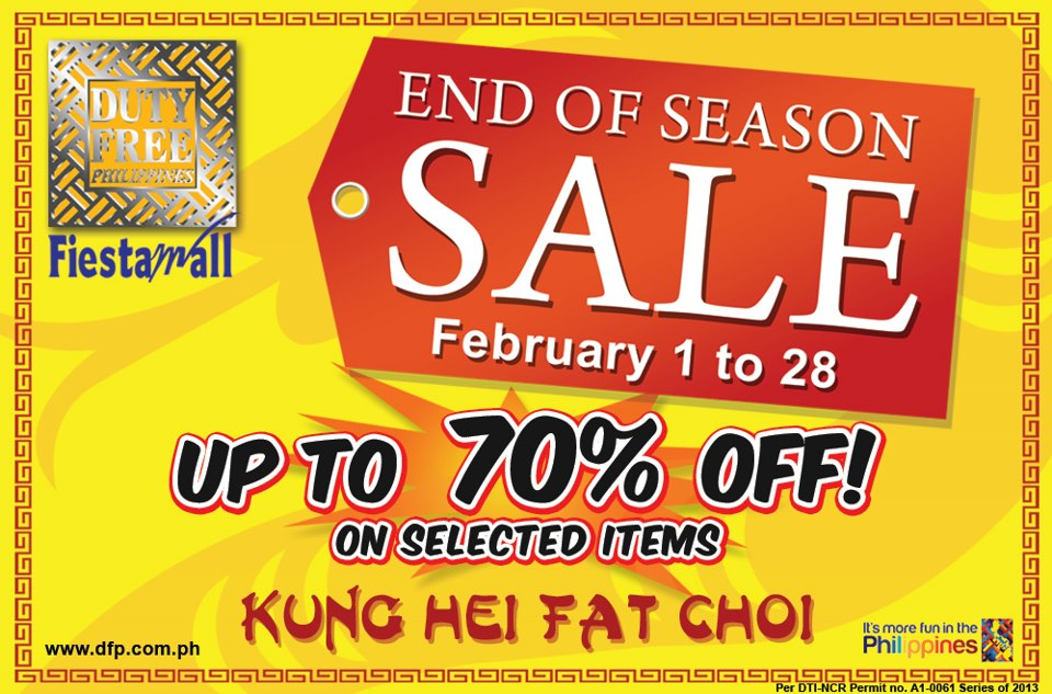 Duty Free Philippines End of Season Sale February 2013