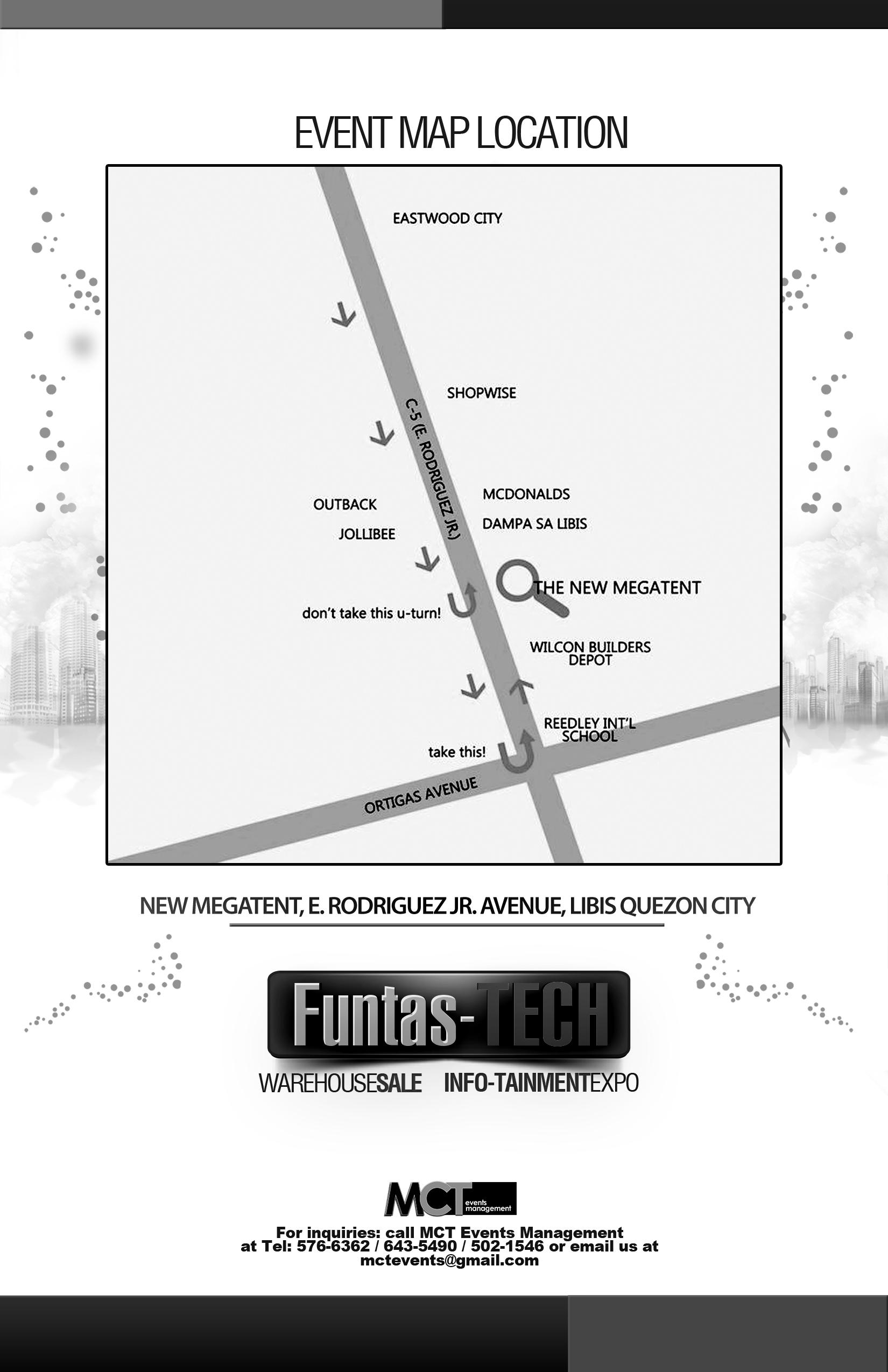 Megatent Libis Location Map