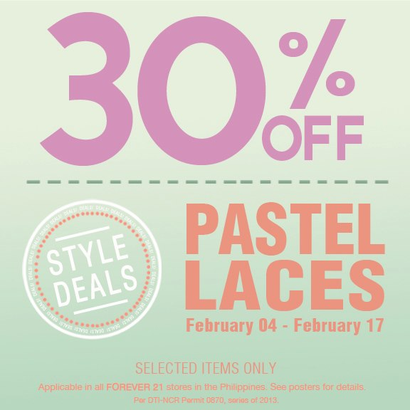 Forever 21 Pastels & Laces Sale February 2013