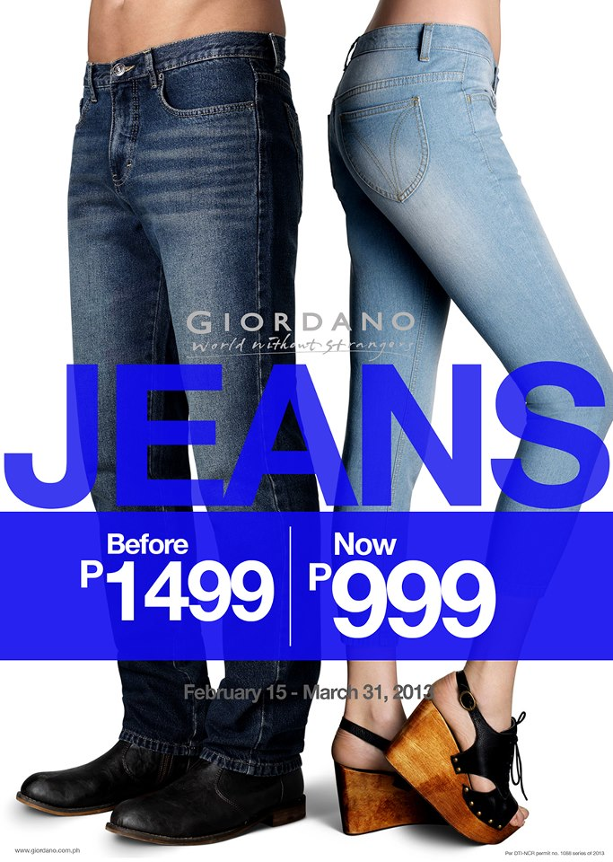 Giordano Denim Sale February - March 2013