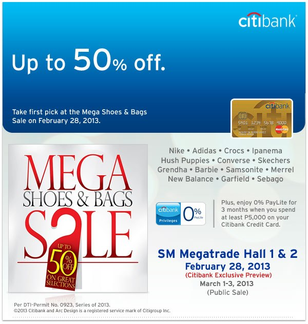 Mega Shoes & Bags Sale @ SM Megatrade Hall March 2013