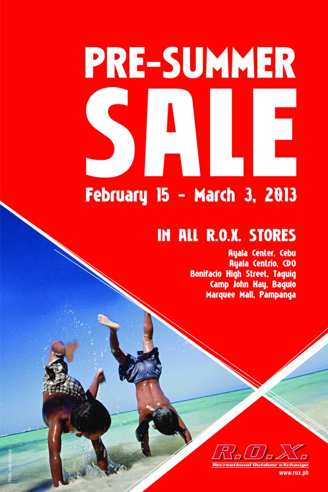 R.O.X. Philippines Pre-summer sale February - March 2013