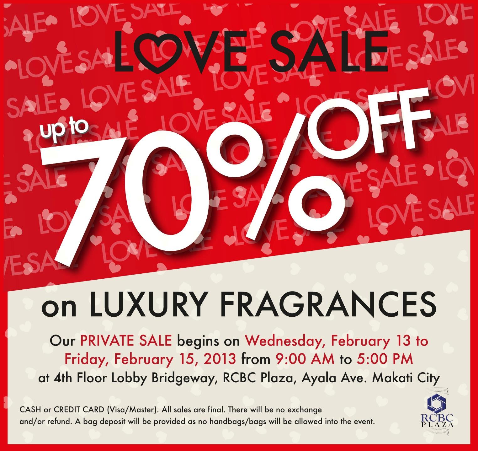 Luxury Fragrances Sale at RCBC Plaza February 2013