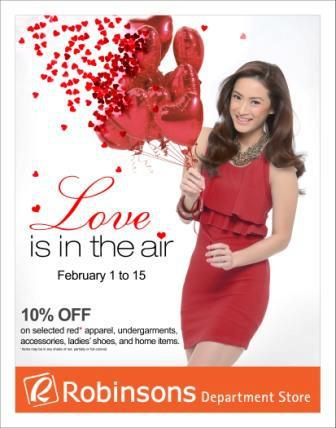 Robinsons Department Store Love is in the Air Sale February 2013