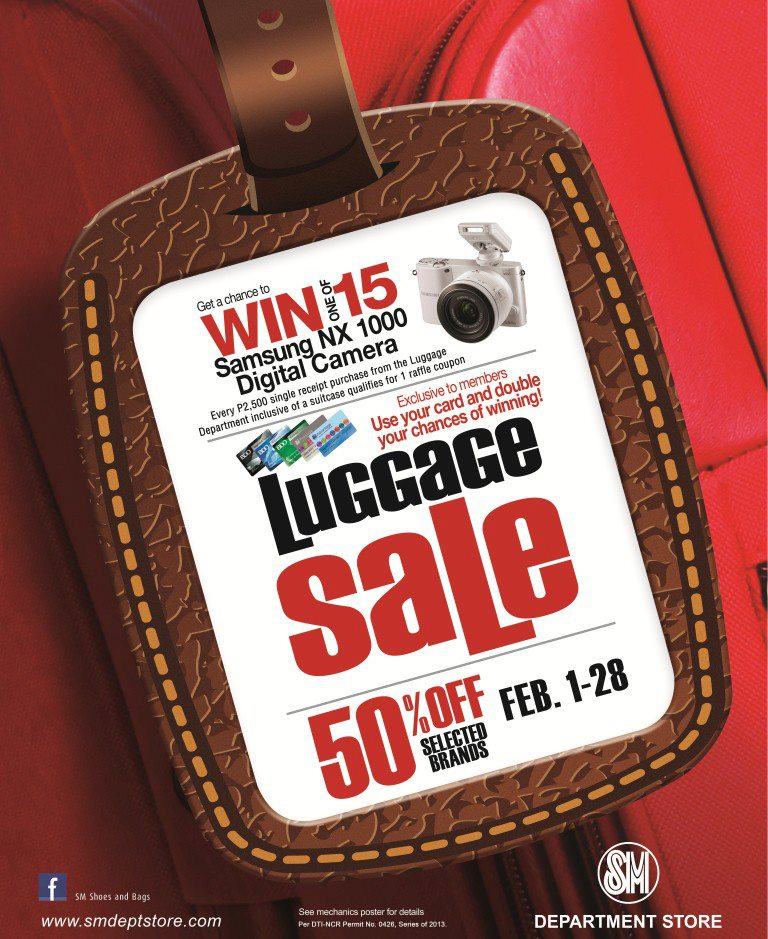 SM Department Store Luggage Sale February 2013
