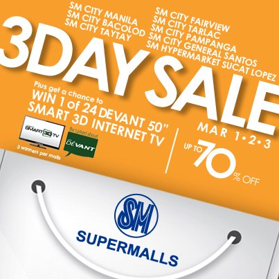 SM Supermalls 3-day Sale March 2013