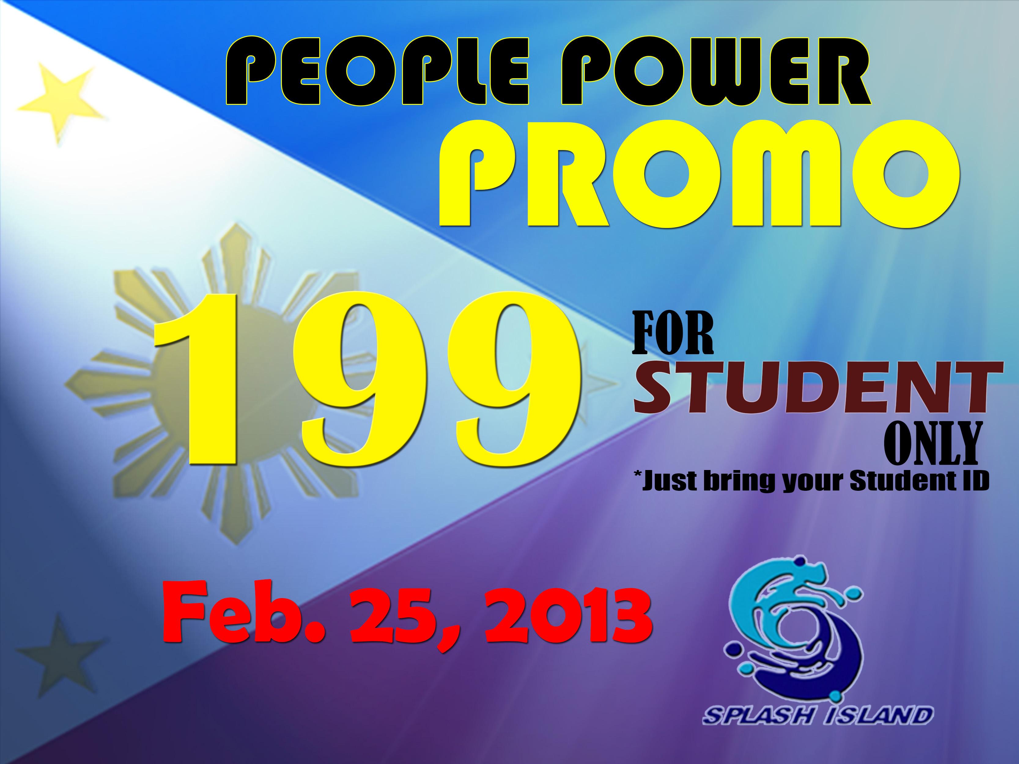Splash Island People Power Promo February 2013