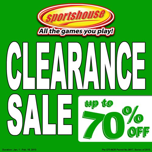 Sportshouse Clearance Sale February 2013