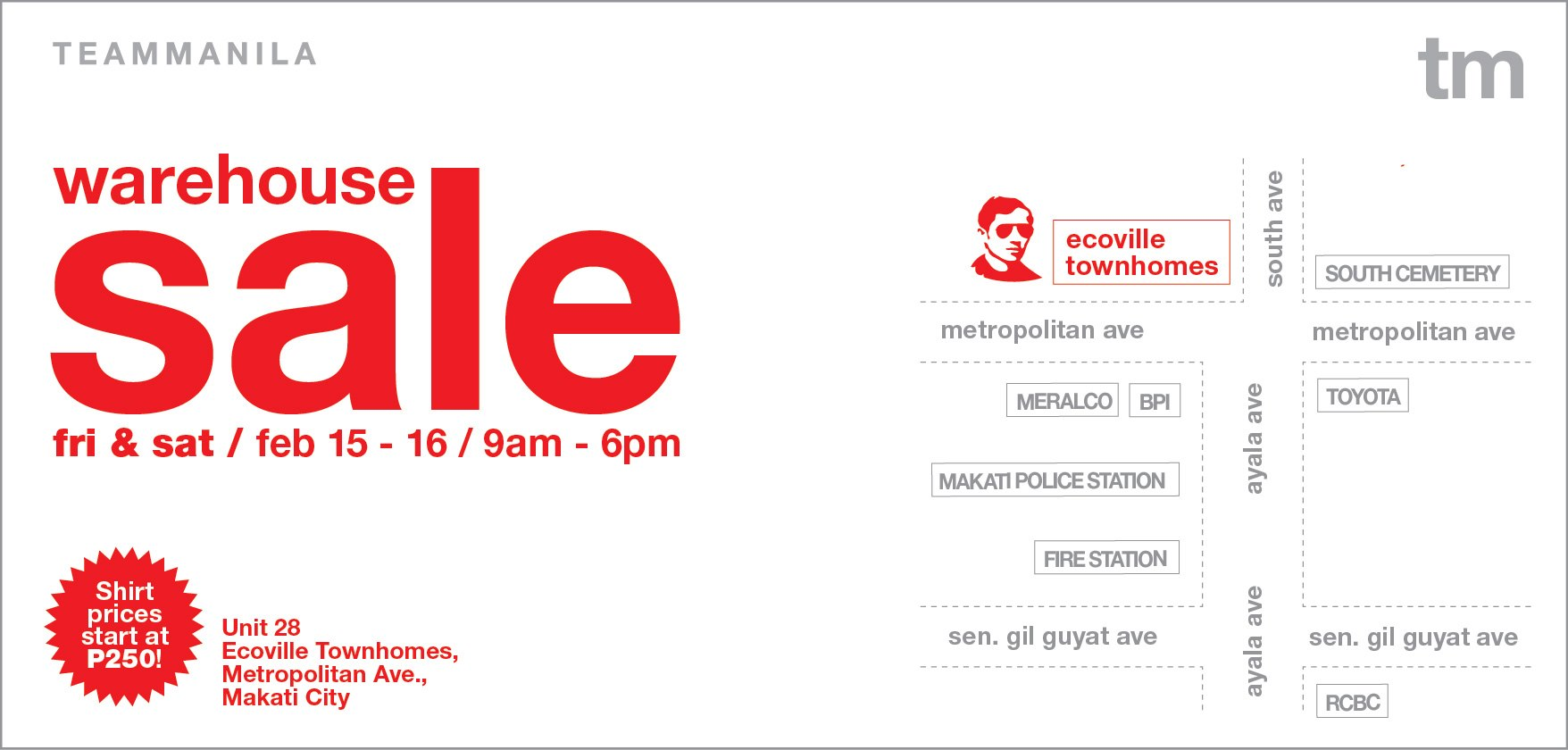 Team Manila Warehouse Sale February 2013