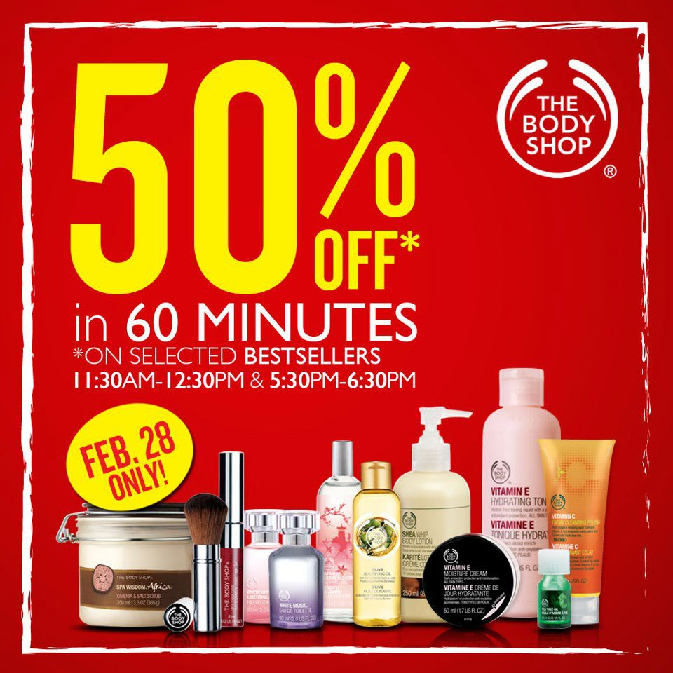 The Body Shop 60 Minutes Sale February 2013
