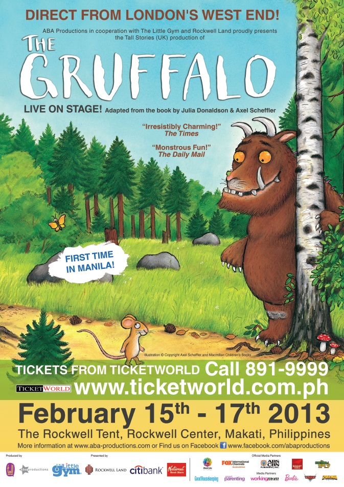 Citibank promo: 10% off on The Gruffalo tickets from Ticketworld February 2013
