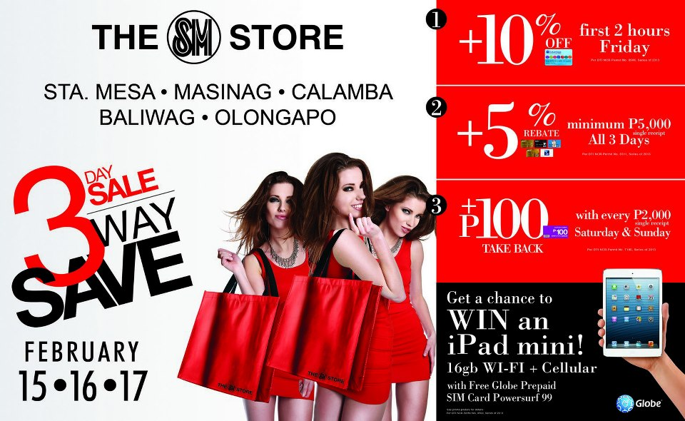 The SM Store 3-Day Sale February 2013