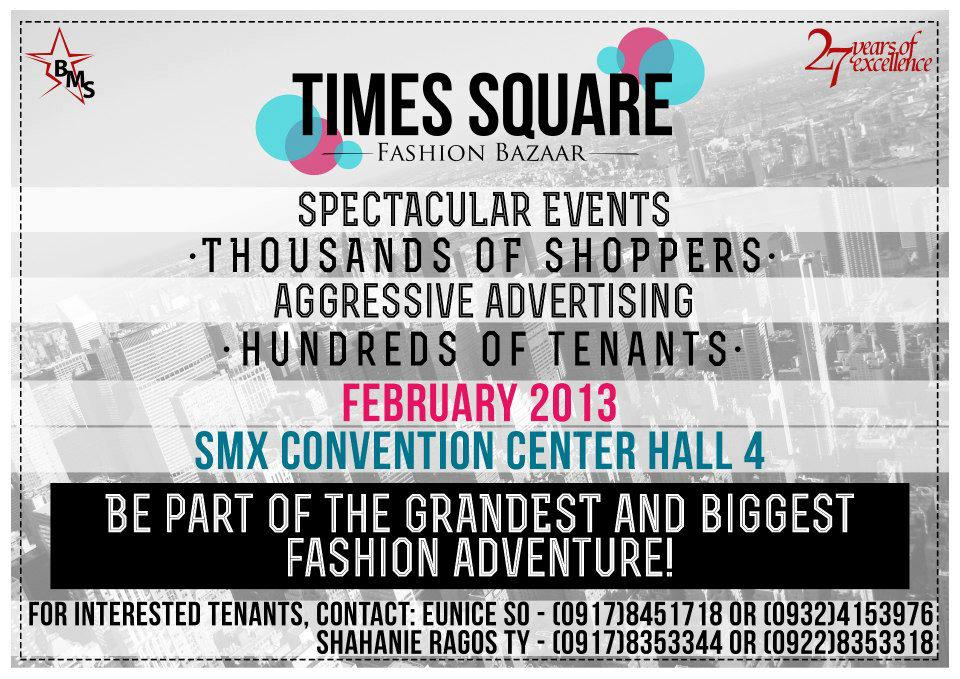Times Square Fashion Bazaar @ SMX Convention Center February 2013